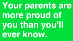 Yes, we encourage all our kids and are very proud of each and every ...