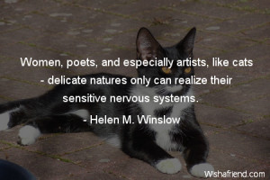 Women and Cats Quote