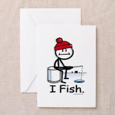 Ice Fishing Greeting Cards