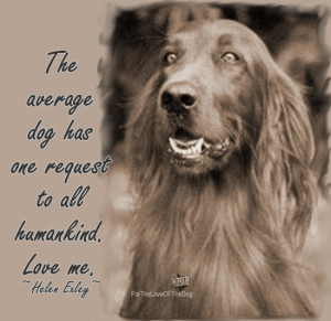 Quote – The Average Dog Has One Request….