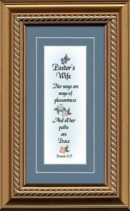 Pastor-Wife-Appreciation-Framed-Gift-Honor-Clergy-Family-with ...