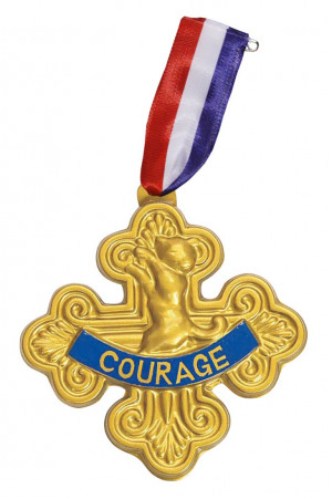Courage Lion Cowardly lion badge of courage