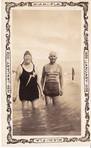 Funny Photo of Grandma and Grandpa in their Swimsuits Miami Florida ...