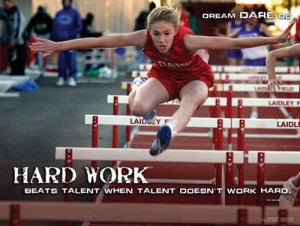 Hurdles Track and Field Hard Work Motivational Inspirational Poster ...