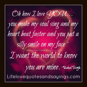 love YOU… you make my soul sing and my heart beat faster and you ...