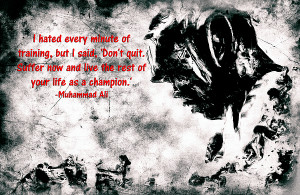 Muhammad Ali Motivational Quote 4a Print by Brian Reaves