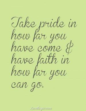 Take Pride, Have Faith