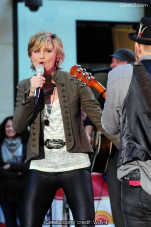 Sugarland performing live at the Rockefeller Center as part of the ...