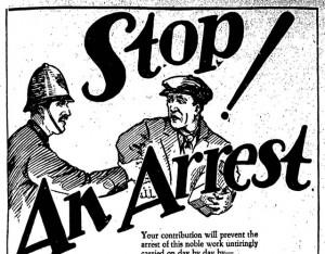 Vintage Ad #1,053: Stop an Arrest during Self-Denial Week!