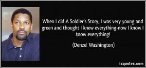 ... knew everything now i know i know everything denzel washington