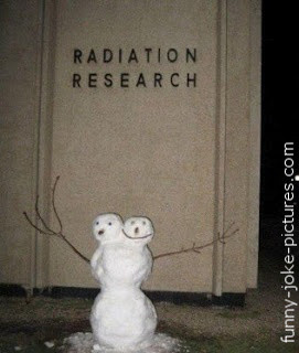 Funny Radiation Research Mutation Mutated Snowman Picture Image Joke ...