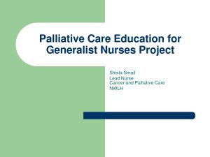 Oncology Nursing Palliative