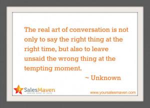 Sales Tip, Sales Training, Quote, Wisdom, www.yoursalesmaven.com