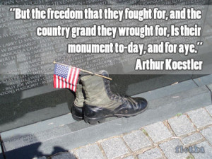 But the freedom that they fought for, and the country grand they ...