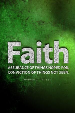 Hebrews 11:1 - Christian iPhone Wallpaper - Bible Lock Screens
