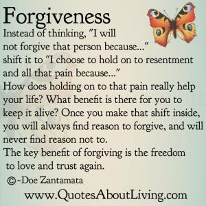 Forgiveness - Shift in Thinking