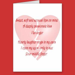 Anti-Love Anti-Valentine's Day poem card