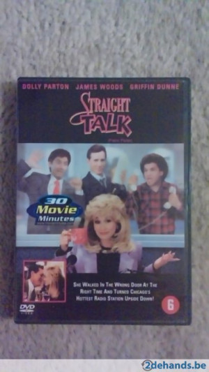 dvd Straight Talk met dolly parton james woods Rare