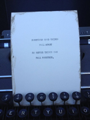 THE GOOD STUFF: Typewriter quote on 5x7 cardstock