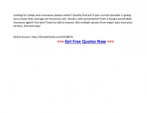 ... Car Insurance Quotes Online Free ~ Cheap car insurance quotes online