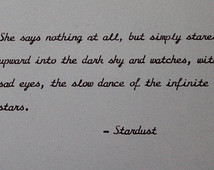 Stardust Neil Gaiman Quote Handtype d ...