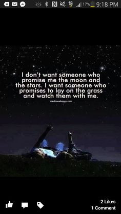 stars lay in the grass and watch them with me more thoughts that under ...