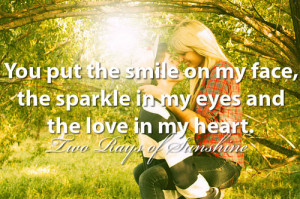 ... quote, quotes, smile, smiling, snapback, sparkles, text, tumblr, two