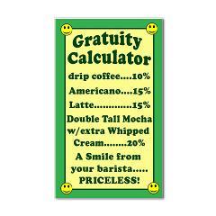 Funny Gratuity Calculator Tip Jar Sticker