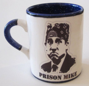 Office TV Show Michael Scott Prison Mike Mug Custom Color and Quote ...