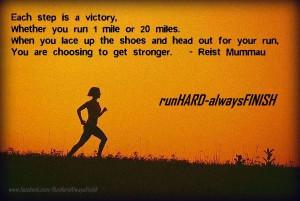 Each step is victory