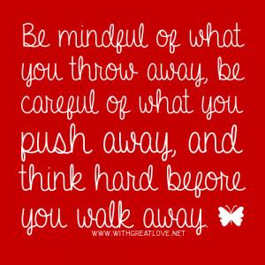 Walking Away Hurt Love Quote
