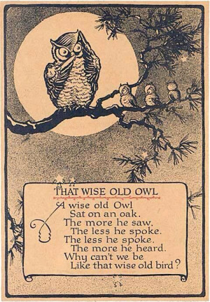 That wise old owl