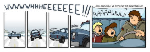 winter driving cartoons and comics