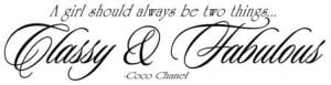 Coco Chanel quote vinyl lettering wall decal sticker french bedroom ...