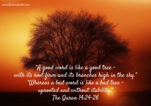 18 The Quran 14:24-26 {Surah Ibrahim (Abraham)}