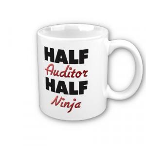 Half Auditor Half Ninja Mug @Sara Eriksson Trudel @Michelle Flynn ...