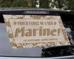 Marine Recruit Training Boot Camp Graduation Car Decal Window Banner ...