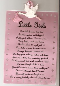 Details about HAND MADE BIRTH CONGRATULATION S SCROLL BABY GIRL FUNNY