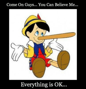 Pinocchio Lie to Me Quotes