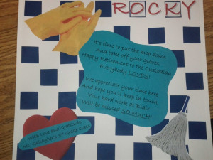 Scrapbook Page for Retiring Custodian