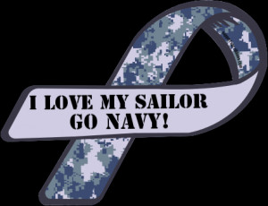 Custom Ribbon: I Love My Sailor / GO NAVY!