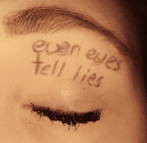 eyes, girl, makeup, quotes, text