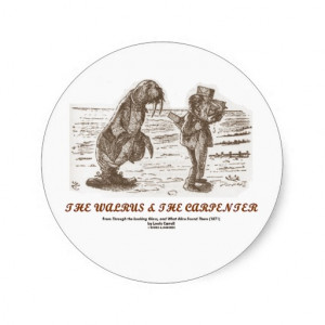The Walrus And The Carpenter (Looking Glass) Sticker