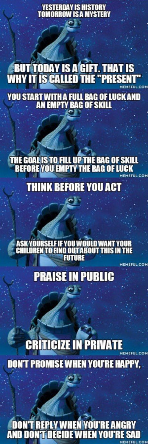 Inspiration from a wise turtle