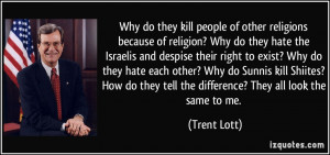 kill people of other religions because of religion? Why do they hate ...