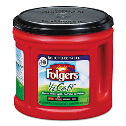 Folgers Coffee, 29.2 oz Canister, Half-Caff