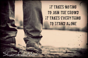 Feeling Alone In A Crowd Quotes Quote by sharifahnor