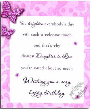 Details about Daughter In Law Birthday Card - Large A Special WL018