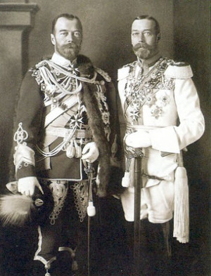 King George V (right) with his first cousin Tsar Nicholas II, Berlin ...