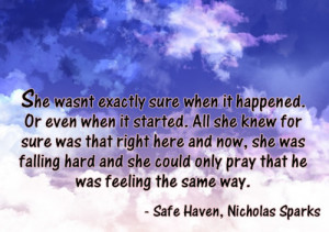 Nicholas Sparks Safe Haven Quotes